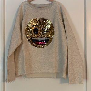 Girl's flippy emoji sweatshirt 😜😂